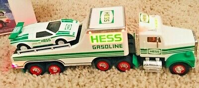 Hess Toy Truck 1991 Car Carrier Truck with Racer