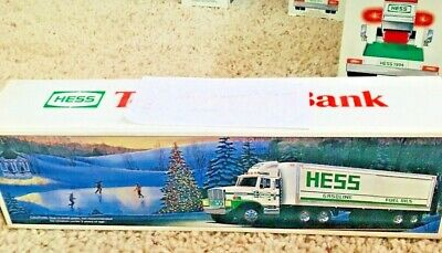 1987 Hess Toy Truck Bank with Barrels and Box