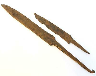 Viking ancient dagger and knife  weapons  iron  6- century AD metal detect finds