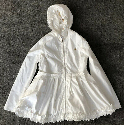 Le Chic White Lightweight Hooded Designer Jacket Girls Age 13-14 Cost £83.95