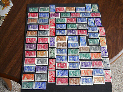 Very Fine Group Of 85 All Different 1937 Coronation & 1948 Silver Wedding Stamps