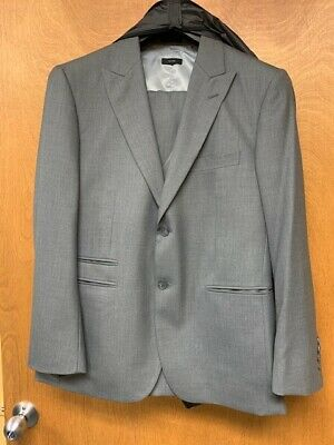 3 Piece Mens Suit Fully Lined Worn Once Jacket 38S Pants 34 X 30
