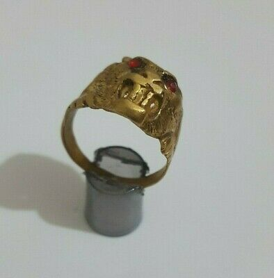 Rare Ancient  Ring Roman Bronze Legionary Silver Very Artifact  Antique old time
