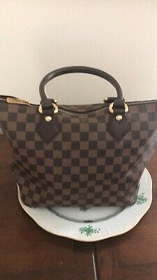 Authentic Louis Vuitton Tote Bag Saleya PM Ebene N51183 Browns Damier 400940