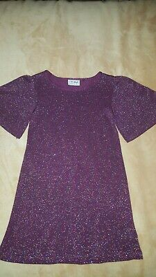 NEXT Very Cute Girls Dress In Sparkle Purple Age 5 years Never Worn