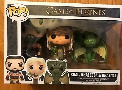funko pop game of thrones Khal, Khaleesi, & Rhaegal Box Open