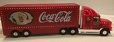2001 Limited Edition Coca Cola Santa Pack Car Carrier Semi Truck lights & sounds