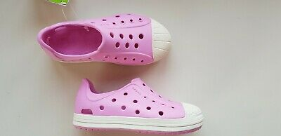 CROCS BUMP IT girls kids size 10-11 C11 PINK clogs sandals shoes EU 28 relaxed