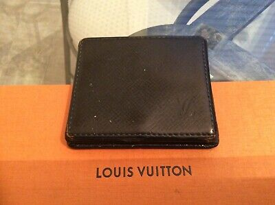 Louis Vuitton Coin purse Wallet Clutch Green TAIGA Authentic Vintage MI 1909