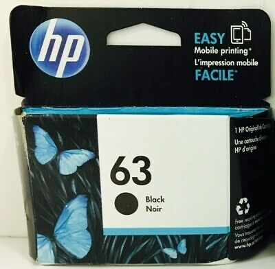 Genuine HP 63 Black Ink Cartridge Deskjet 2130 3631 Officejet 3830 3834 5258