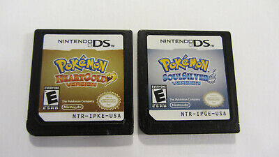 Pokemon Heart Gold and Soul Silver Nintendo DS authentic HeartGold SoulSilver