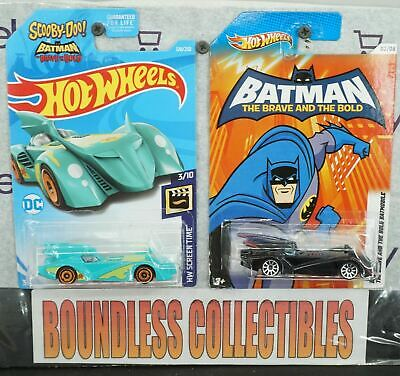 Hot Wheels Lot Of 2 Batman The Brave And The Bold Batmobile Scooby Doo Vhtf