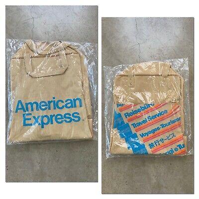 NOS 70s AMERICAN EXPRESS Travel Service Carry On Luggage Airline Tote Bag VTG
