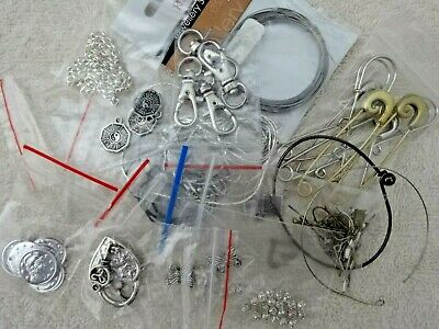 MIxed lot jewelry findings silver antique colour