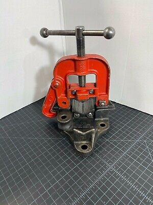 "Vintage Ridgid B-Y-2-A Pipe Vise 1/8"" - 2 1/2"" - Made in USA"