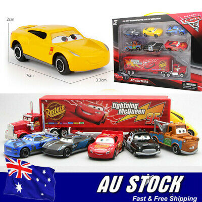 For Pixar Car 3 Lightning McQueen Racer Car&Mack Truck Collection 7PCS Set Toys