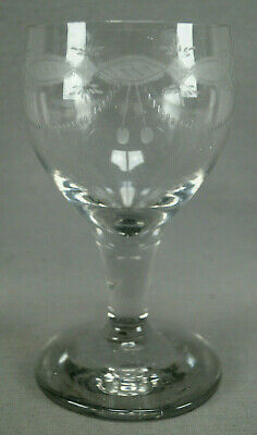 Early 19th Century Bohemian Engraved Flint Glass Large Rummer