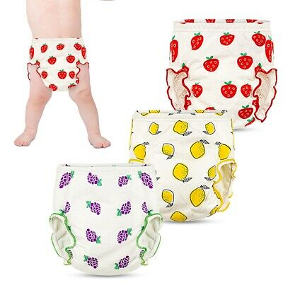 3Pcs Pack Reusable Washable Potty Training Pants Boys Girls Baby Nappy Diaper