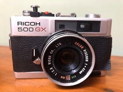 Fantastic ~* Antique Vintage RICOH 500 GX film Superb Compact Camera And Case