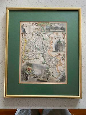 Map Hand Colored Oxfordshire C 1845