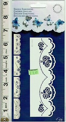 Embroidery Embossing Stencil Marianne Design TWIRLY STENCIL Paper Pricking