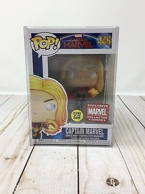 Funko POP! Captain Marvel GITD #446 Glow in the Dark -Marvel Collector Corps H2