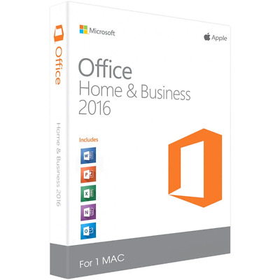 Microsoft Office for MAC Office 2016 Home Business Ver MAC 2019 Digital Delivery