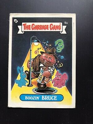 The Garbage Gang Boozin' Bruce 9a 1985 Card Sticker Vintage