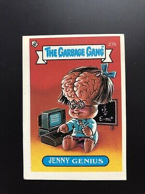 The Garbage Gang Jenny Genius 27b 1985 Card Sticker Vintage