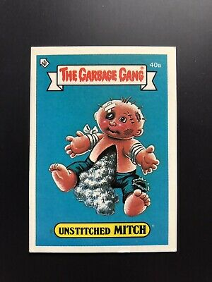The Garbage Gang Unstitched Mitch 40a 1985 Card Sticker Vintage