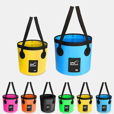 Camping Fishing Bucket Multi functional Folding Outdoor Portable Water