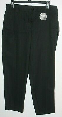 NEW Counterparts Women's Black Stretch Capris Size 8