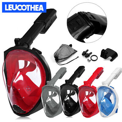 180° Full Face Anti-Fog Diving Mask Snorkel Set Swimming Goggles Scuba for GoPro