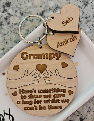Personalised Gifts For Him Fathers Day Gift Keyring Daddy Grandad Grampy Dad