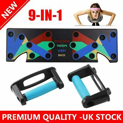 9 in1 Pushup Stands Workout Train Gym Exercise Push Up Rack Board System Fitness
