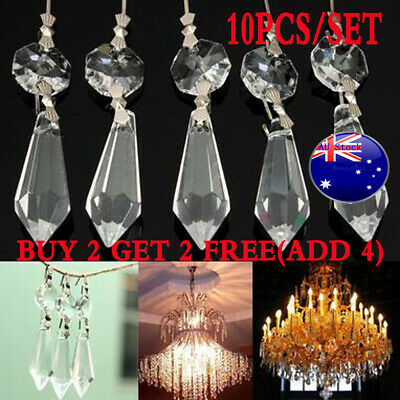 Clear Crystals Chandelier Glass Lamp Prisms Parts Hanging Drops Pendants 38mm