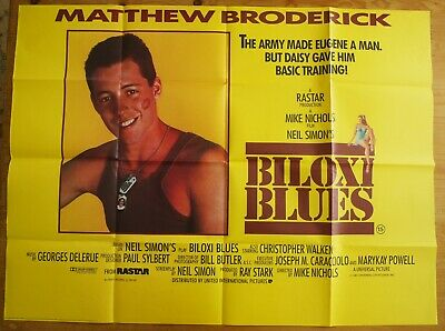 Matthew Broderick Biloxi Blues 1987 Original Movie Poster Uk Post