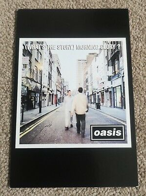 Oasis (What's The Story) Morning Glory? Fan Club Original 1995 Flyer Postcard