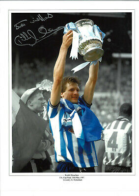 Keith Houchen Coventry City FA Cup Final Signed authentic football photo SS1043E