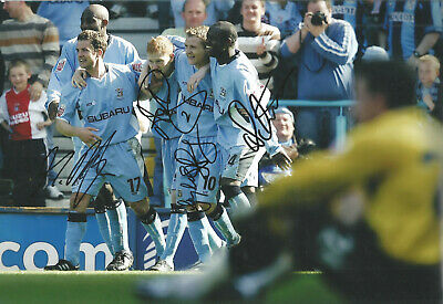 Last Ever Goal Highfield Road Coventry City Multi Signed football photo SS1044