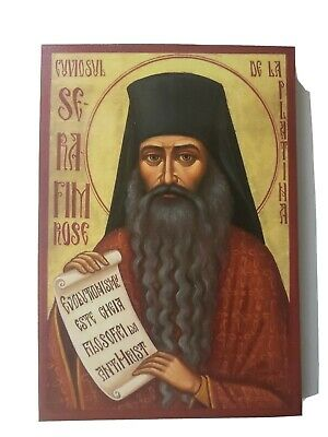 Saint Seraphim Rose, Orthodox Icon, Size 7 x 10, 10/16 inches 18 x 26 cm