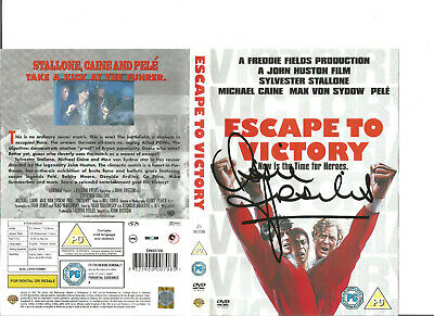 Escape to Victory DVD signed by Footballer Ossie Ardiles Argentina SS1068