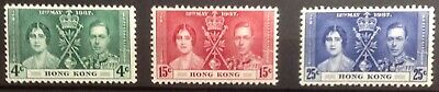 Hong Kong 1937 Coronation Set Mint See Note