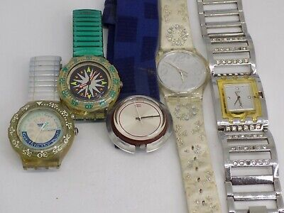 Joblot/Dealers Lot/Steampunk/Spares/repairs/working  SWATCH WATCHES x 5! Genuine