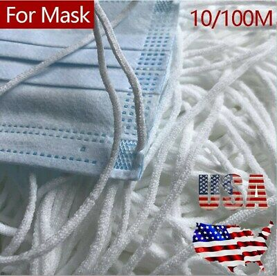 USA 3mm Round Elastic Band Cord Ear Hanging Sewing Craft DIY Material 10/100M