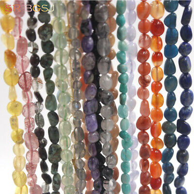 Natural 6-8mm Potato Assorted Gemstone Beads Jewelry Making DIY Beads Strand 15""