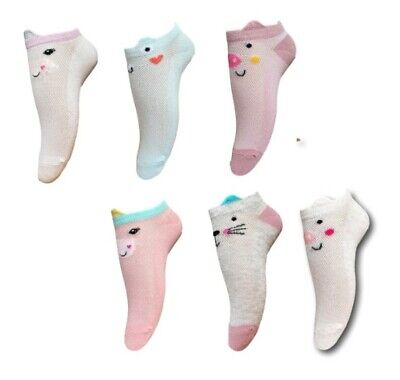 Toddler Girls Kids Children Summer Short Cotton Soft Fun Cute Trainer Socks1Pair