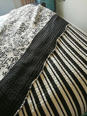 Kingsize Double sided throw beautiful black and white