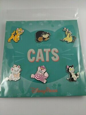 Disney Pin Trading Cats 6 Pin Booster Pack Set With Siamese Cats