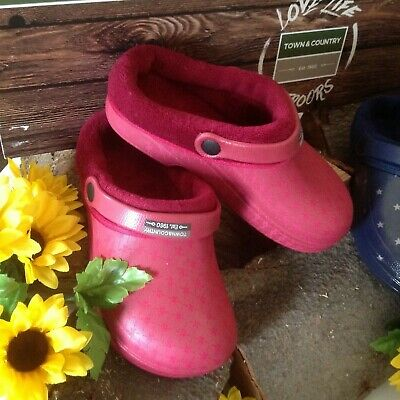 FLEECE LINED UNISEX GENUINE TOWN/&COUNTRY GARDEN BOOTS//CLOGGS  CHEAPEST ON !